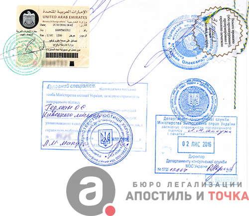 Легализация диплома Консульская легализация димлома в Украине Пример легализации диплома для ОАЭ